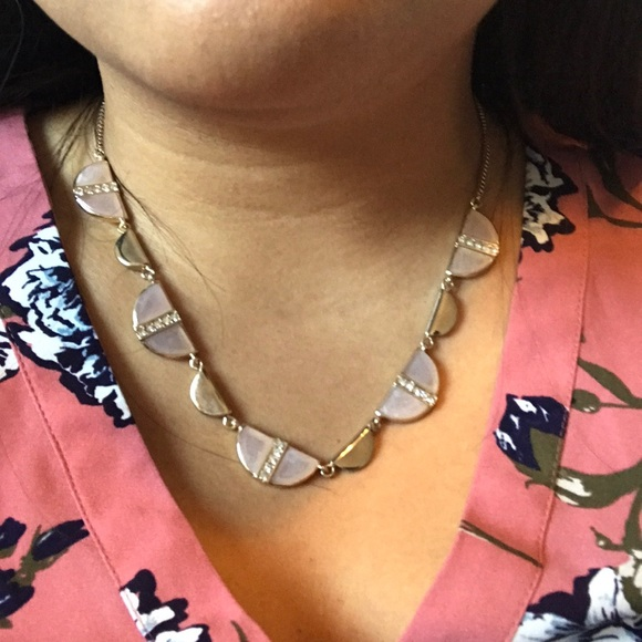 Ann Taylor Jewelry - Statement Pink and Gold Necklace